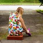retro vintage hawaiian dress